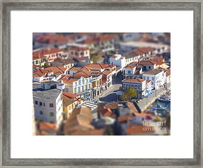 Framed Print featuring the photograph Rooftops by Vicki Spindler