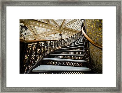 Rookery Building Atrium Staircase Framed Print