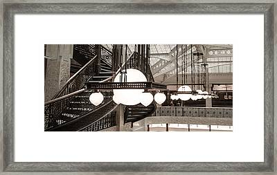 Rookery Building Lights Framed Print