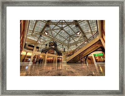 Rookery Building Main Lobby And Atrium Framed Print