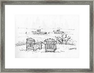 Room For Two Monhegan Island 1993 Framed Print by Richard Wambach