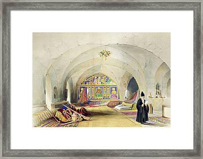 Room In An Armenian Convent Framed Print by A. Margaretta Burr