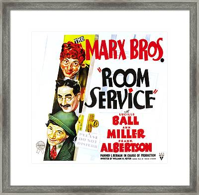 Room Service, The Marx Brothers Framed Print
