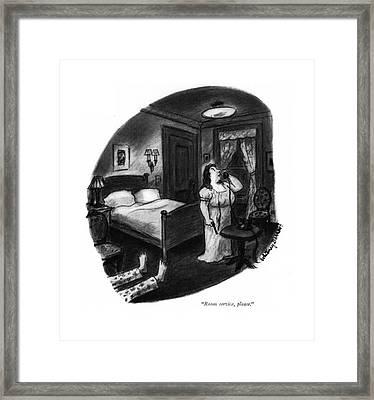 Room Service Framed Print by Whitney Darrow, Jr.