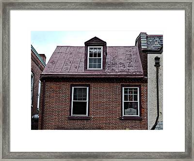Room With A Red Tin Roof Framed Print by Richard Reeve