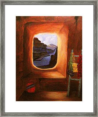 Room With A View Framed Print by Janis  Tafoya