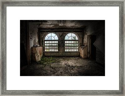 Room With Two Arched Windows Framed Print by Gary Heller