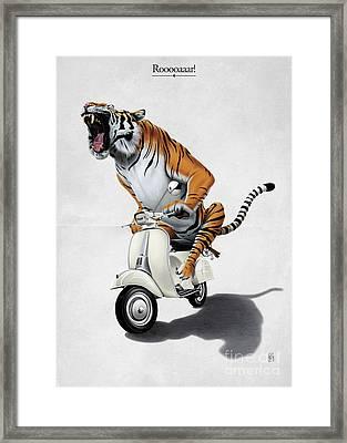 Rooooaaar Framed Print by Rob Snow
