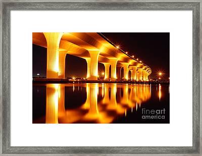Roosevelt Bridge Framed Print by Lynda Dawson-Youngclaus
