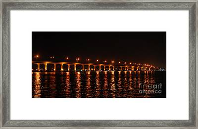 Framed Print featuring the photograph Roosevelt Bridge Panorama by Olga Hamilton