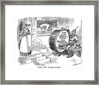 Roosevelt Cartoon, 1908 Framed Print by Granger