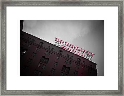 Roosevelt Hotel Framed Print by April Reppucci