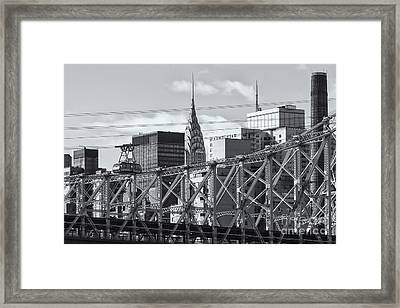 Roosevelt Island Tram And Manhattan Skyline II Framed Print