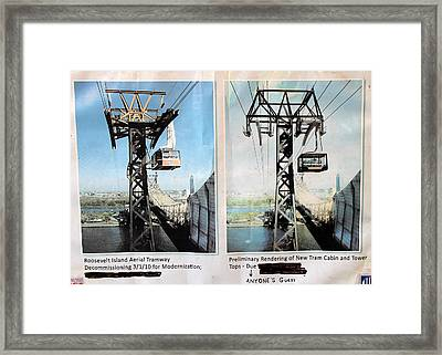 Roosevelt Island Tramway Framed Print by Andrew Fare
