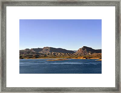 Roosevelt Lake Arizona Framed Print by Christine Till
