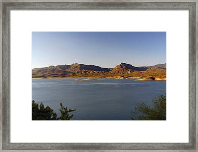 Roosevelt Lake Arizona - The American Southwest Framed Print by Christine Till