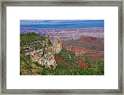 Roosevelt Point Two On North Rim/grand Canyon National Park-arizona   Framed Print by Ruth Hager