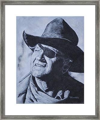 Rooster Cogburn Framed Print by Denise Thurston Newton
