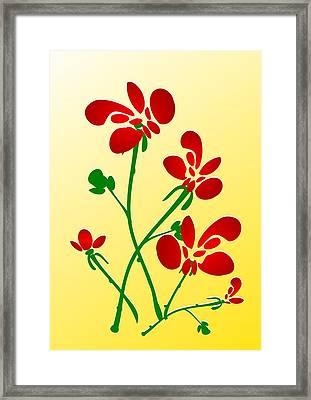 Rooster Flowers Framed Print by Anastasiya Malakhova