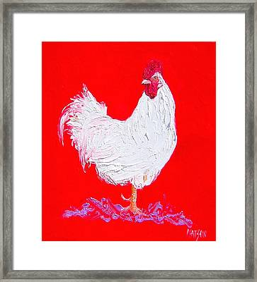 Rooster For The Cafe Framed Print