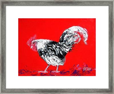 Rooster Gabriel Framed Print by Jan Matson