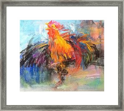 Rooster Framed Print by Jieming Wang