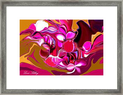 Framed Print featuring the digital art Rooster by Loxi Sibley