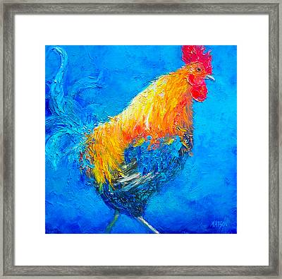 Max The Rooster Framed Print