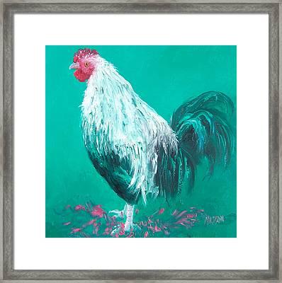 Sebastian The Rooster Framed Print