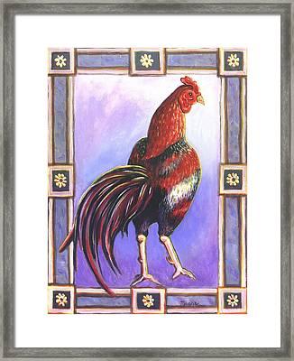 Rooster Prince Framed Print