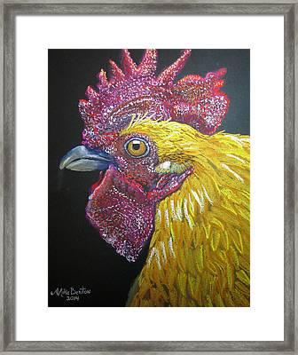 Rooster Profile Framed Print