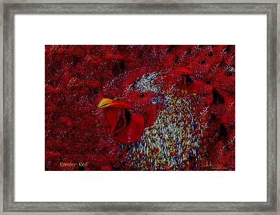 Rooster Red Framed Print