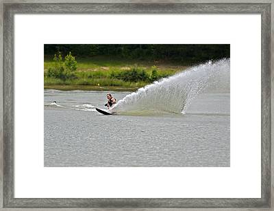 Rooster Tail Framed Print by Susan Leggett