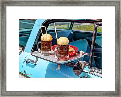 Root Beer Floats Framed Print