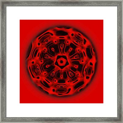 Root Chakra Framed Print by CymaScope