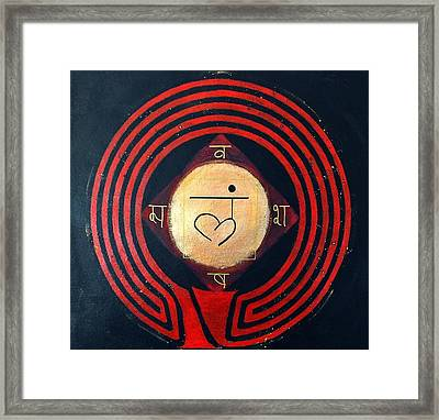 Root Chakra Muladhara Symbol Labyrinth Framed Print by Folade Speaks