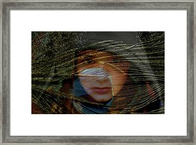 Framed Print featuring the photograph Root Child Peacock by Clarity Artists