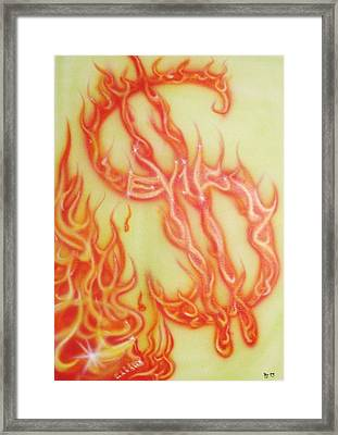 Root Of Evil Framed Print by Richard Gardner