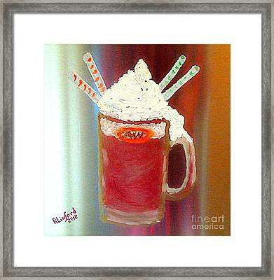 Rootbeer Friends Framed Print by Richard W Linford