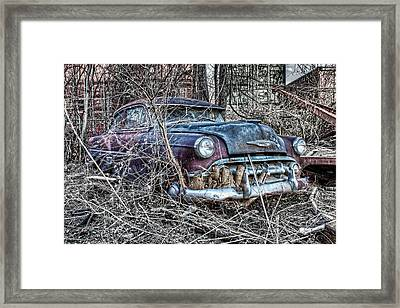 Rooted In Chevy Framed Print by Corey Cassaw