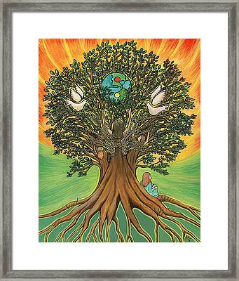 Rooted In The Tree Of Humaity Framed Print
