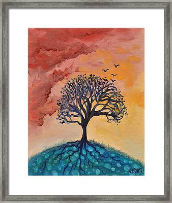 Roots And Wings Framed Print by Cedar Lee