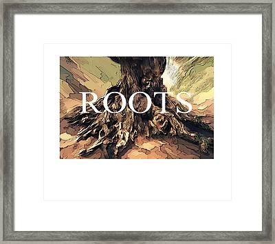 Framed Print featuring the digital art Roots by Bob Salo