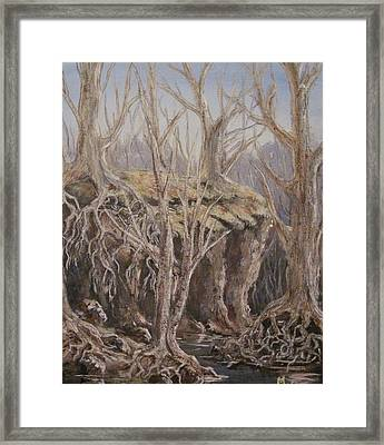 Framed Print featuring the painting Roots by Megan Walsh