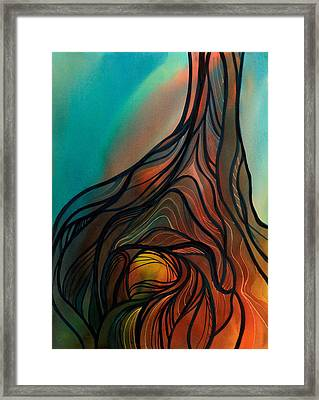 Roots Of Tree By Clark Lake Framed Print