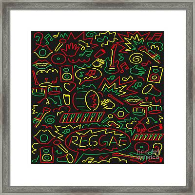 Roots Rock And Reggae Framed Print by Respect the Queen