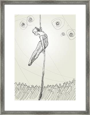 Rope Act Framed Print