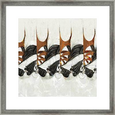 Rope And Leather Nests Framed Print