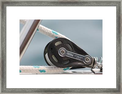 Rope And Pulley Framed Print by Karl Anderson