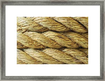 Rope Background Texture Framed Print by Amanda Elwell